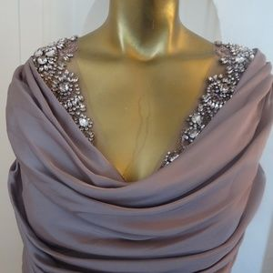 *NWT* Blush, Gem Embellishment Gown- Long, Couture